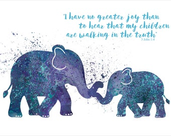 Nursery Wall Art - Custom Quote - Elephant Nursery Prints - Wall Art Nursery  - Baby Shower Gift Ideas