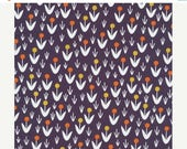 Closing Sale Dotty Blooms Navy - Morning Song by Elizabeth Olwen for Cloud 9 Organic Fabric