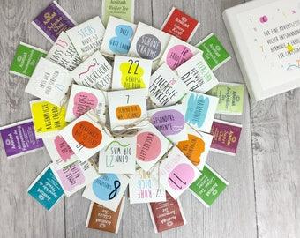 Adventskalender gefüllt mit Tee