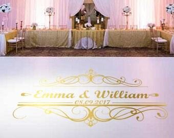Wedding Dance Floor Decal, Wedding Decor, Interior Sticker, Window Sticker, Wall Decal