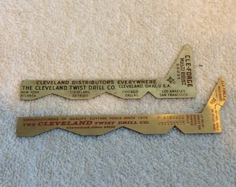 2 Cleveland Twist Drill Co. CLE Forge Multi Point Gauges