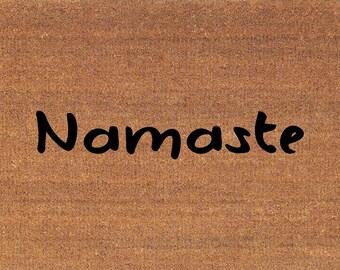 """Namaste Doormat - Door Mat - 2' x 2' 11"""" (24 Inches x 35 Inches) - Welcome - Housewarming Gift"""