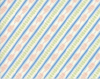 Moda BLOOMSBURY by Franny and Jane-stripe in cream-(47517 11)-by the YARD