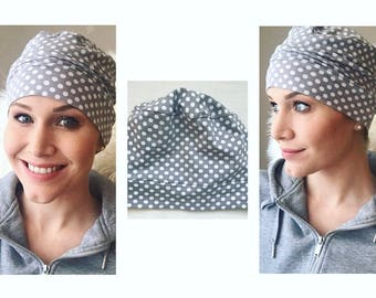 Polka Dot Power Chemo Hat