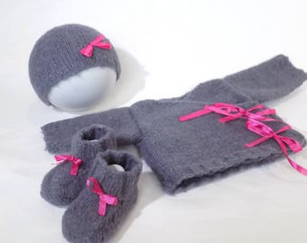 All baby new born baby layette jacket bonnet and booties, kit for a newborn baby bonnet maternity vest and booties