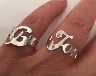 Name Ring, Silver Name Ring , Initial Ring, Custom Ring, Personalized name ring, Silver rings, Custom Name Ring, Personalized Ring