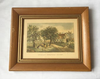 American Homestead Autumn by Currier & Ives