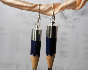 Coloured pencil tips drop earrings