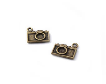 Set of 2 camera charms