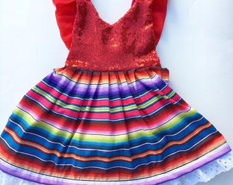 Mexican party/ mexican dress/ fiesta party/ cinco de mayo birthday/ fiesta birthday/ first birthday outfit/ first cake smash/ baby romper/
