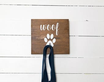 Key Hook, Dog Leash Holder, Dog Lovers, New Puppy Gift, Entryway Organizer, Farmhouse Decor, Rustic Decor, Gift for Her