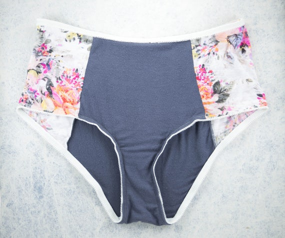X-LARGE - high waist panties, unique and handmade from upcycle