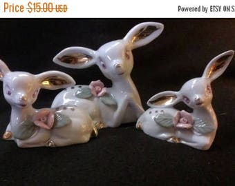Set of Three Porcelain Deer (342)