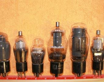 Vintage Radio/TV Vacuum Tubes, SET OF 2
