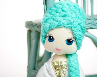 Olivia: Handmade Cloth Doll by Manolitas