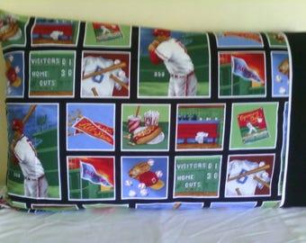 Baseball print pillowcase