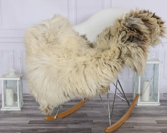 Sheepskin Rug | Real Sheepskin Rug | Shaggy Rug | Chair Cover | Sheepskin Throw | Beige Sheepskin | #HERSEPT11