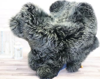 Turquoise Sheepskin Rug | Fur Rug | Shaggy Rug | Chair Cover | Area Rug | Gray Rug | Carpet  | #novher33