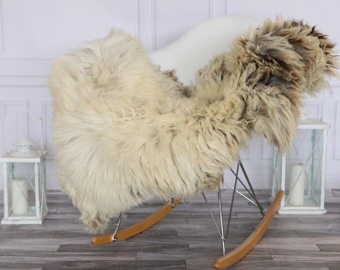 Sheepskin Rug | Real Sheepskin Rug | Shaggy Rug | Chair Cover | Sheepskin Throw | Beige Sheepskin | #HERSEPT11