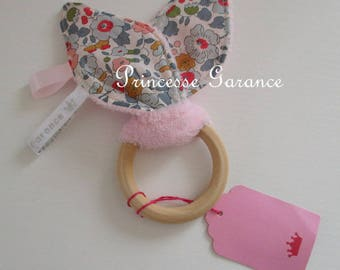 Rustling paper-bunny ears teething rattle