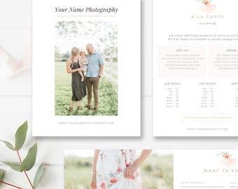 Photography Magazine, Welcome Guide 10 Pages, Template for Photographers, Magazine Photoshop Template, INSTANT DOWNLOAD!