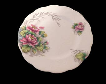 vintage royal albert bone china flower of the month water lily 8 inch plate handpainted