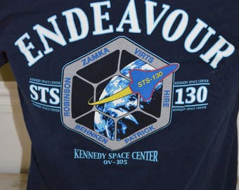 Vintage NASA Endeavor STS-130 Kennedy Space Center Graphic T-Shirt (Size: M)