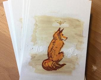 The Fox Prince postcards - set of 5