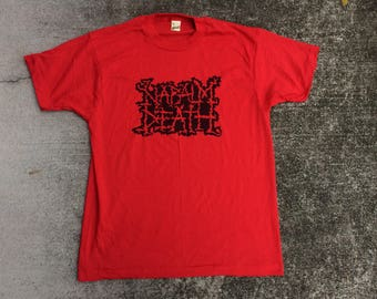 Napalm Death shirt LARGE screen stars 80s single stitch deadstock