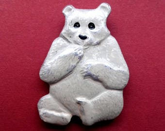 Polar bear Pin. Vintage collectible childrens soviet pin badge, Made in USSR, 1980s