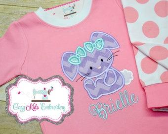 Easter pajamas, Spring pajamas, girls pajamas, boy pajamas, girls pj, boy pj, spring pj, pj, girls pajamas, girls pj, appliqué, embroidery