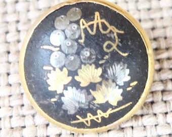 Japanese Damascene Button--Amita