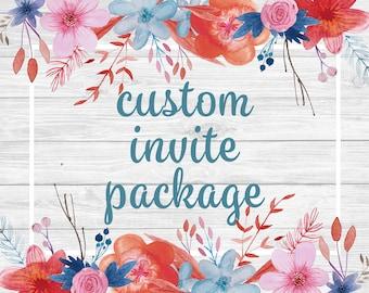 Custom Invitation - Premium