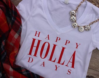 Happy Holla Days Tee