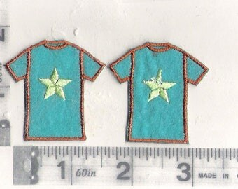 Pair of t-shirt iron on patches