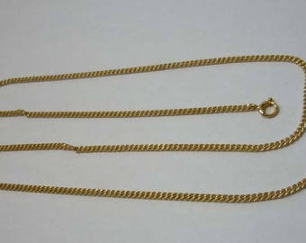 18 inch 14kt yellow Gold Chain Link Necklace
