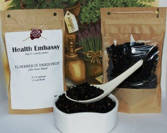 Elderberry Dried Fruit (Sambucus Nigra) 50g - Health Embassy - Organic