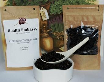 Elderberry Dried Fruit (Sambucus Nigra) 50g - Health Embassy - Organic