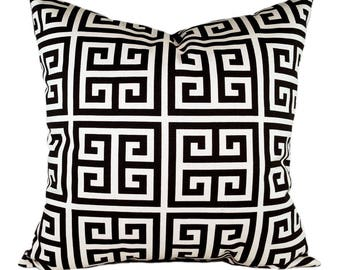 clearance black and cream greek key decorative pillows black pillow cover towers onyx couch