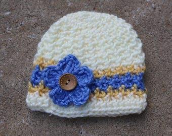 Handmade Newborn Crochet Hat