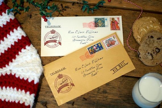 Santa telegram letter personalised christmas telegram with like this item spiritdancerdesigns Images