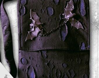"""Shoulder bag  """"Vlad blue"""" - Gothic Style shoulder bag"""