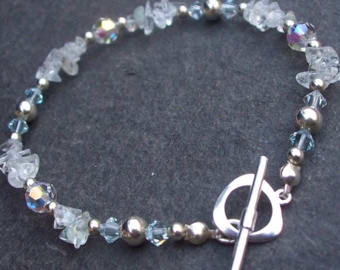 Sterling Silver Aquamarine bracelet - March Birthstone jewellery gift