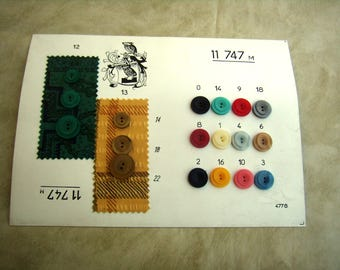 Sample button card original french buttons from the 80s