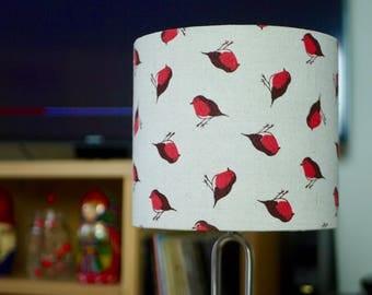 Robin Lamp Shade - Handmade Bird Chirstmas Autumn  Drum Lampshade 20cm 30cm 40cm