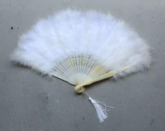 1930's - 1940' Feather Fan