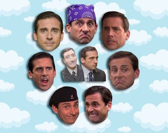 "Michael Scott Expressions Sticker Pack 8 ct 2 x 1.5"" - The Office Tv - Office Michael - Office Tv Show - Michael Scott - The Office Tv Gift"