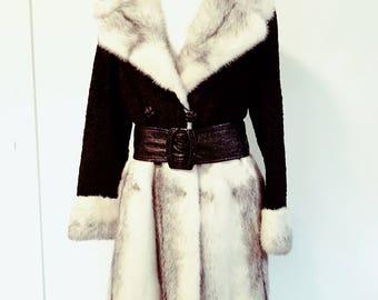 1960's Mink Fur Coat, lambs fur, Karakul and Fitch,