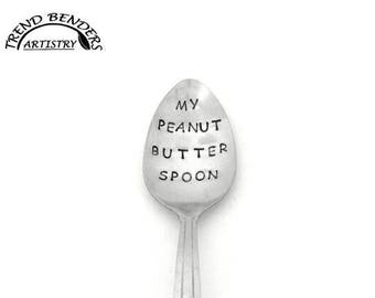 Easter Basket Gifts For Girls, For Boys, My Peanut Butter Spoon Unique Stamped Birthday Gift For Kids For Him Anniversary Gift For Boyfriend