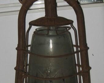 Antique German Kerosene Lantern Bat Lamp